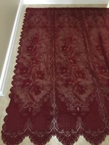 For Sale: Burgundy Lace Curtains