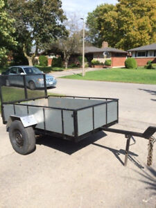 Steel Trailer with Ramp - 4 x 7