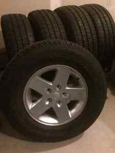 5 Jeep Wrangler never used tires and rims