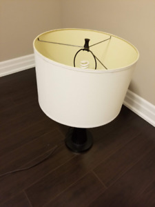 Brown Based Lamp with an Ivory Shade