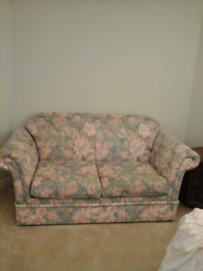 Very good condition love seat  with cover $30