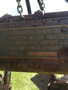 Fordson Major Tractor 2 bottom plow