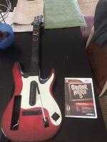 Wii - Guitar Hero 5 w/ guitar