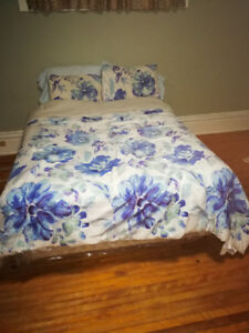 Double bed, box, and frame
