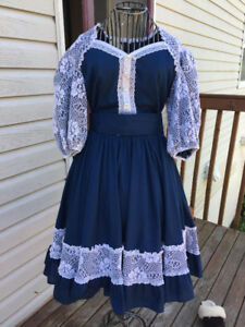 Vintage 1950s Square Dancing Dress in Excellent Condition
