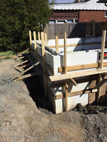 ICF Additions, Concrete Footings, Foundations and Slabs
