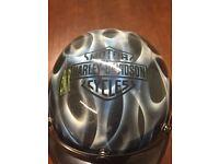 Harley Davidson painted helmet