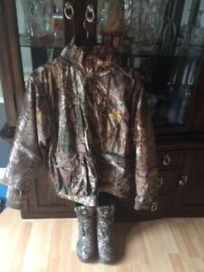 Men's Camaflauge Jacket and Boots