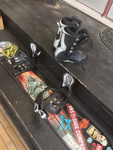 5150 Snowboard, boots and bindings. $100. Great condition.