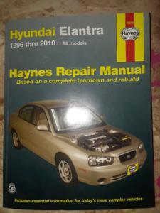 Hyundai elantra 1996-2010 Repair manual Haynes