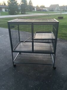 Large 2 level metal ferret/chinchilla cage