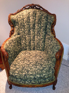 French Provincial Tub Occasional Accent Gentleman's Chair