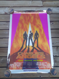 CHARLIE'S ANGELS Cameron Diaz Drew Barrymore Movie Poster 2000