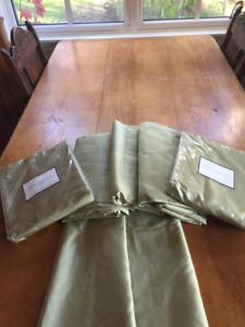 Pottery Barn Dupioni Silk Drapes - never used