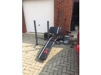 York Fitness Bench + various weights