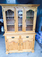 SOLID BIRCH HUTCH AND BUFFET