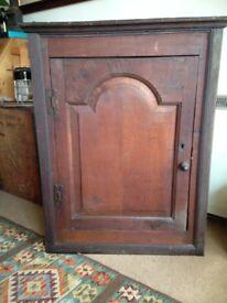 Victorian oak corner unit