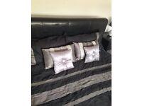 Kingside leather bed frame