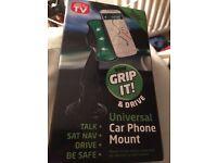 Universal car phone mount