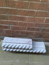 Rope edging bricks and ends-forest town.