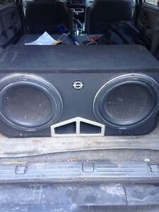 """Pair of kenwood 12"""" subs in bassworx ported box. LOUD"""