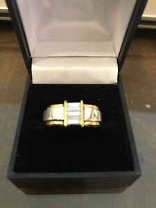 Jose Hess 18k Two Tone Gold Diamond Ring