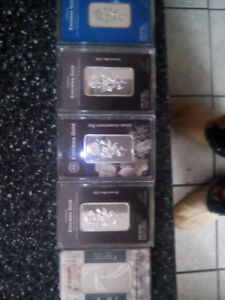 Pure Silver small bars  3.5 0z (100 grams) and smaller to 20 gr.