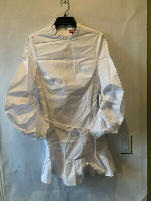 STAUD LONGSLEEVE WHITE CAROLINA DRESS SIZE 4