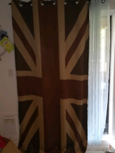 union jack curtains / rideau