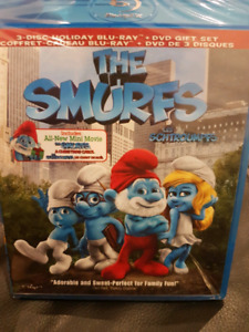 The Smurfs Bluray and DVD combo - brand new, wrapped