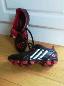 Size 3 children's adidas soccer cleats.