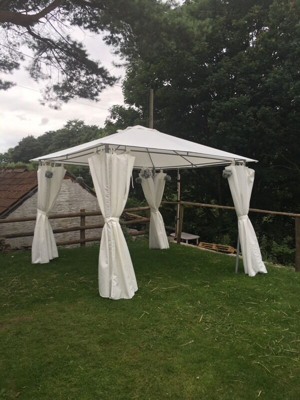ikea karls gazebo with curtains in hanham bristol gumtree. Black Bedroom Furniture Sets. Home Design Ideas