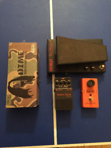 Dime Distortion, MXR Phase 90, Boss Metal Zone MT-2