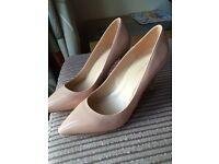 Nude patent Dorothy Perkins shoes