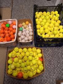 Coloured golf balls. 40p each.