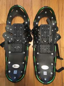 "BIG FOOT ADVENTURE 25"" SNOWSHOES W BAG & POLES (110-160 Lbs)"
