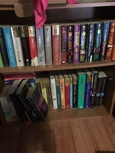 Book shelf and books