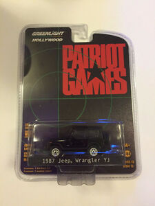 1:64 GreenLight *HOLLYWOOD R13* PATRIOT GAMES 1987 Jeep Wrangler