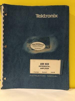 Tek 070-1582-01 Am 502 Differential Amplifier Instruction Manual