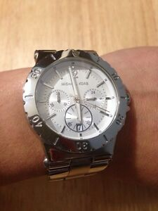 Michael Kors Silver Authentic Watch