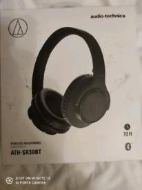 Audio-Technica Wireless Headphones Casque Sans Fil Ath-Sr30bt
