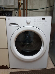 Kenmore front load washer white bought last year with warranty