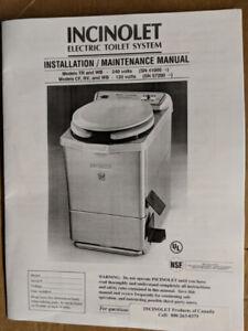 Incinolet - incinerator toilet.  Brand new, no plumbing required