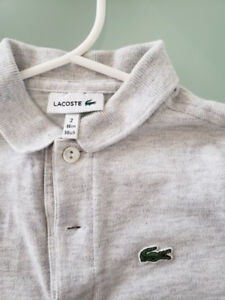 Chandail Lacoste (authentique) de type POLO (grandeur enfant 2)