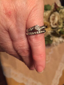 Diamond Engagement Ring and Band