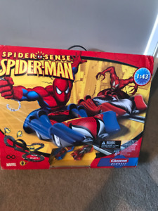 'NEW' Spiderman Race Car Track-Never Opened!