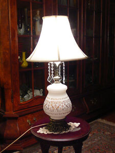 "Superbe lampe/1950 France h/28"" style Versailles verre, bronze"