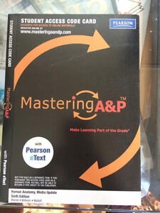 Mastering A&P Student Access Code 6th Edition