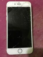 iPhone 6 64gb Gold Fido w/ Shattered Screen