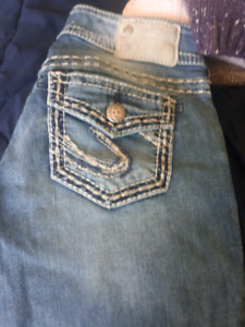 Silver jeans and brand new men's jeans